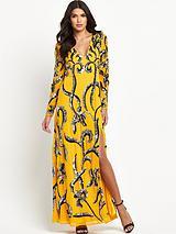 Long Sleeved Embellished Maxi Dress