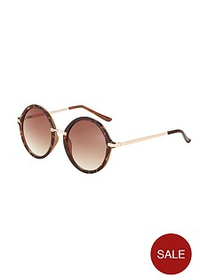 round-frame-sunglasses-with-metal-arm-detail-tortoiseshell