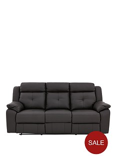 denzelnbspluxury-faux-leather-3-seaternbspmanual-recliner-sofa
