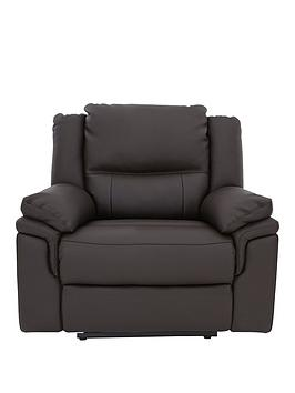 Very  Albion Luxury Faux Leather Manual Recliner Armchair