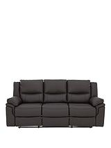 Albion 3-SeaterLuxury Faux Leather Manual Recliner Sofa