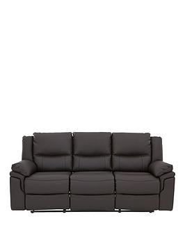 Albion 3Seater Luxury Faux Leather Manual Recliner Sofa
