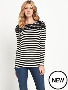 v-by-very-stripe-lace-yoke-jersey-top
