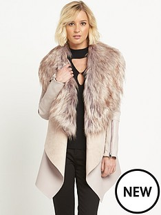 river-island-faux-fur-collar-fallaway-jacket