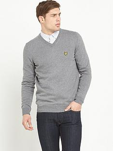 lyle-scott-merino-woolnbspv-neck-jumper
