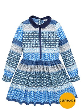 v-by-very-girls-contrast-placket-tile-print-shirt-dress