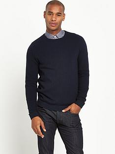 ted-baker-ted-baker-mixed-stitch-crew-nk-jumper