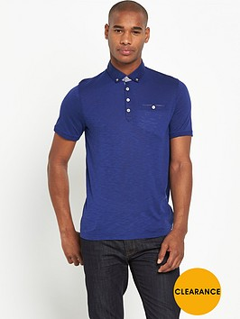 ted-baker-short-sleeve-linen-collar-polo