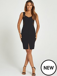 rochelle-humes-lace-trim-dress