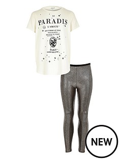 river-island-girls-paris-printed-tee-with-metallic-leggings-set-2-piece