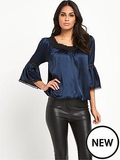 lipsy-mid-sleeve-swing-blouse