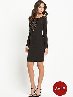 lipsy-long-sleeve-stud-detail-bodycon-dress