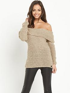 lipsy-chunky-off-shoulder-jumper