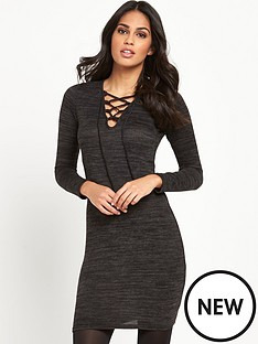 lipsy-lipsy-criss-cross-knit-dress