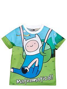 adventure-time-adventure-time-short-sleeve-boys-sublimation-math-t-shirt