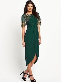 virgos-lounge-green-embellished-top-midi-dress