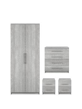 Very Prague 4-Piece Package - 2-Door Wardrobe, 4-Drawer Chest And 2  ... Picture