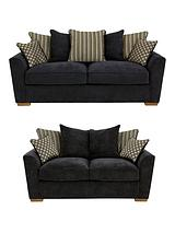 Modena 3-Seater + 2-Seater Fabric Sofa Set (Buy and SAVE!)