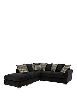 Modena LeftHand Fabric Corner Group With Sofa Bed
