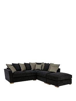 Modena RightHand Fabric Corner Group With Sofa Bed And Footstool