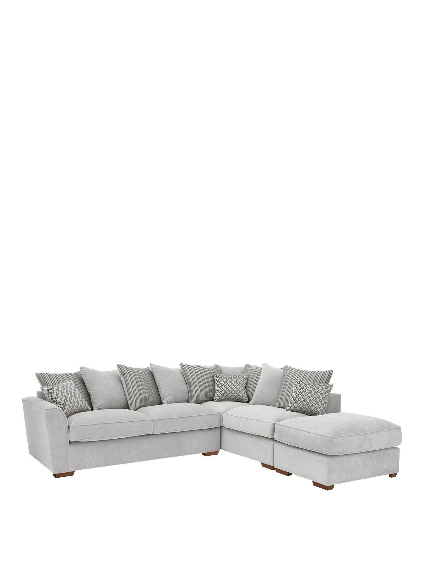 modena righthand fabric corner chaise sofa bed