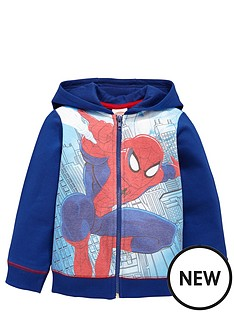 spiderman-spiderman-sublimation-hooded-zip-through-top