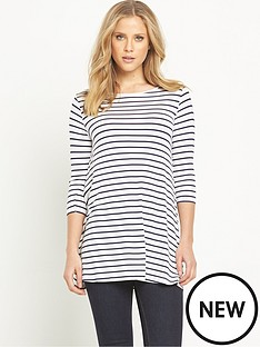 v-by-very-stripe-34-sleeve-swing-tunic