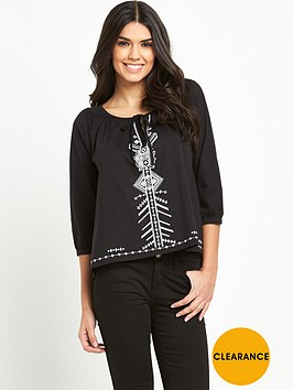v-by-very-long-sleeve-embroidered-tie-jersey-top
