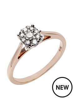 love-diamond-9ct-rose-gold-20-point-diamond-cluster-ring