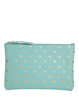 bombay-duck-bombay-duck-bisous-gold-hearts-flat-pouch