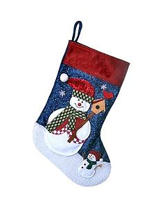 personalised-snowman-stocking