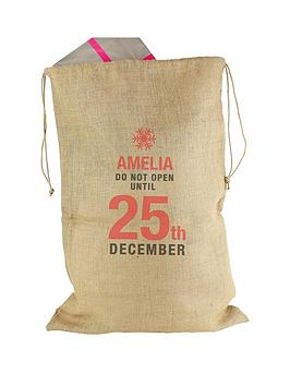 personalised-do-not-open-hessian-sack