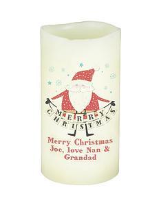 personalised-merry-christmas-santa-led-candle