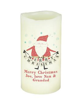 personalised-merry-christmas-santa-led-candle