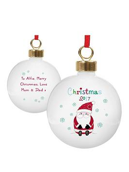 personalised-santa-bauble