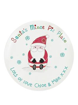 personalised-santa-mince-pie-plate