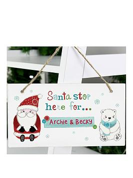 personalised-santa-stop-here-forwooden-sign