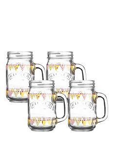 kilner-kilner-04-litre-punch-04-litre-bunting-4-pack-handled-jars