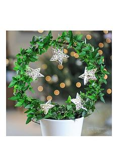 thompson-morgan-ivy-hoop-with-star-lights-in-ceramic-pot