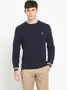 fred-perry-textured-crew-neck-mens-jumper
