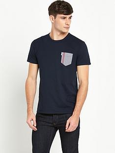 ben-sherman-ben-sherman-gingham-tipped-pocket-tshirt