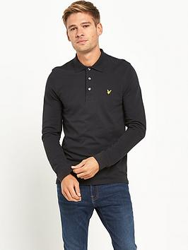 lyle-scott-long-sleevenbsppolo-shirt