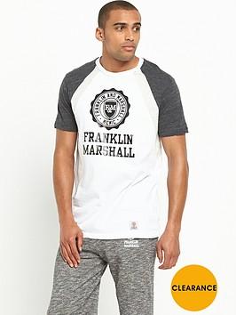 franklin-marshall-franklin-amp-marshall-seal-contrast-t-shirt