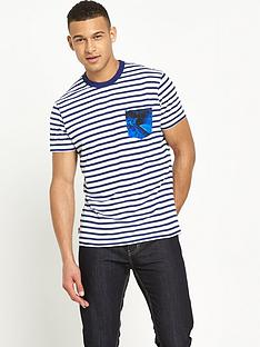 franklin-marshall-franklin-amp-marshall-striped-pocket-t-shirt