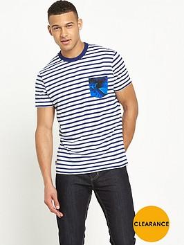 franklin-marshall-franklin-amp-marshall-striped-pocket-t-shirt