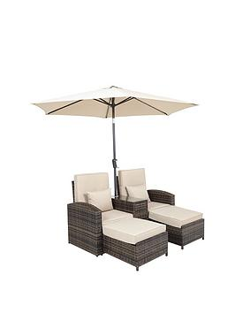 Very Coral Bay Multi-Functional Sun Lounger Set Picture