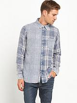 JOE BROWNS TWO WAY INDIGO CHECK SHIRT