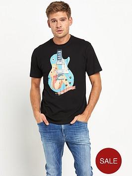 joe-browns-pin-up-guitar-mens-t-shirt