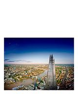 View from The Shard, Champagne Afternoon Tea at a luxury central London Hotel and Thames River Cruise for Two