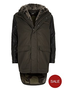 river-island-boys-pu-sleeve-hooded-parka